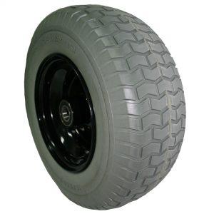 Wide wheelbarrow wheel flat free grey /black