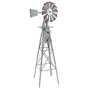 Garden Ornamental Windmill 1420mm 4ft with Weather Station