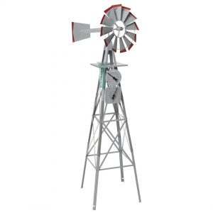 Garden Ornamental Windmill 2400mm 8ft with Weather Station