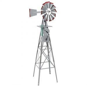 Garden Ornamental Windmill 1800mm 6ft with Weather Station