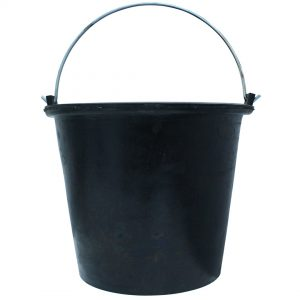 Rubber Bucket 14 Litre 3 pack